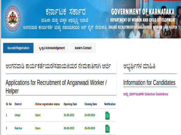 WCD Udupi Recruitment 2019: 78 Posts