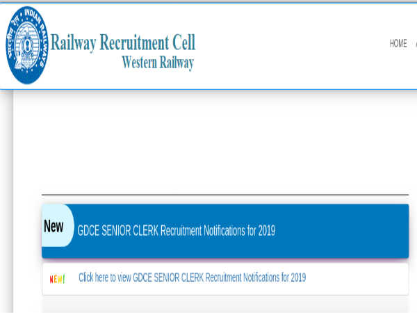 Western Railway Recruitment: Sr. Clerks