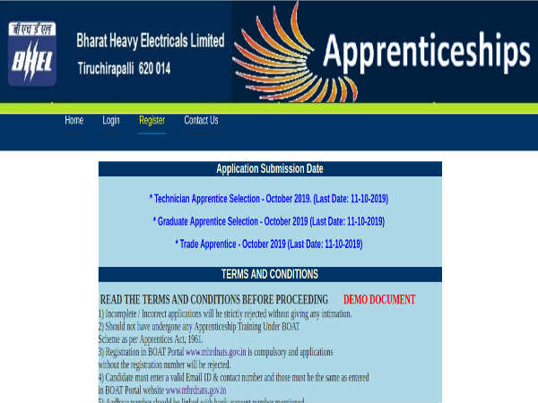 BHEL Recruitment: 765 Apprentices Post