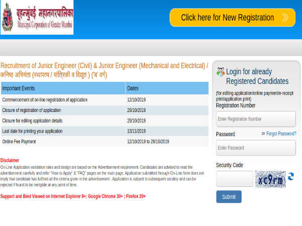 BMC Recruitment: Apply Online For 341 Junior Engineers (Civil, Mechanical And Electrical) Posts