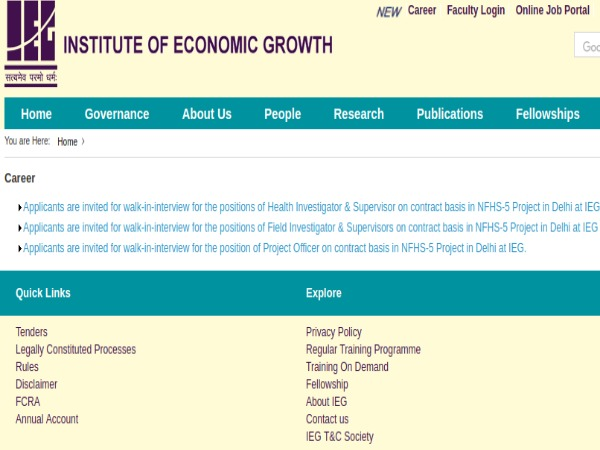 Institute of Economic Growth: 123 Posts