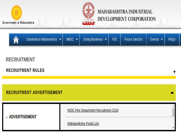 MIDC Recruitment 2019: Apply Online For 187 Fire Extinguisher, Fire Assistants And Other Posts