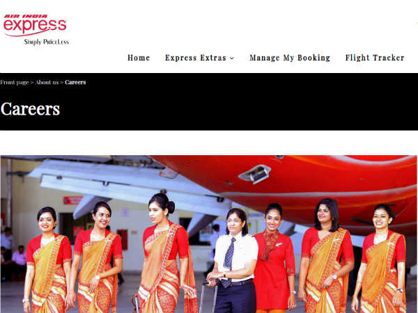 Air India Recruitment: Female Cabin Crew