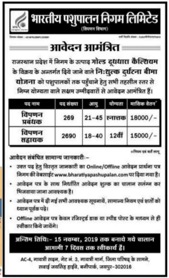 BPNL Recruitment: 2,959 Marketing Jobs