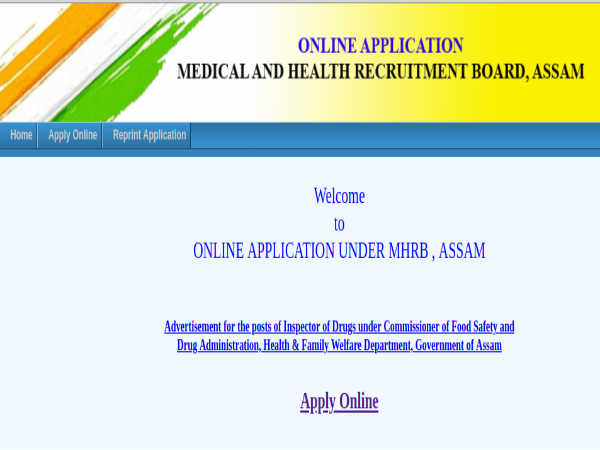 NHM Assam: Inspector of Drugs Posts