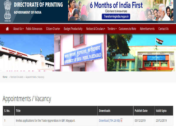 India Govt Jobs: Apply Offline For 26 Trade Apprentices Post In Multiple Trades Before December 26