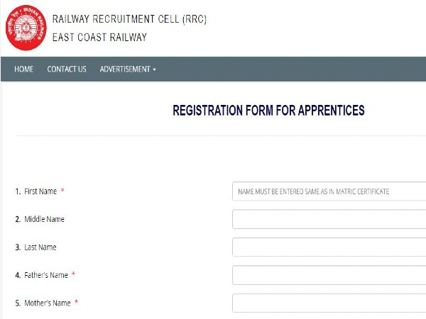 East Coast Railway: Apply Online For 1,216 Apprentices Post In Multiple Trades Before January 6