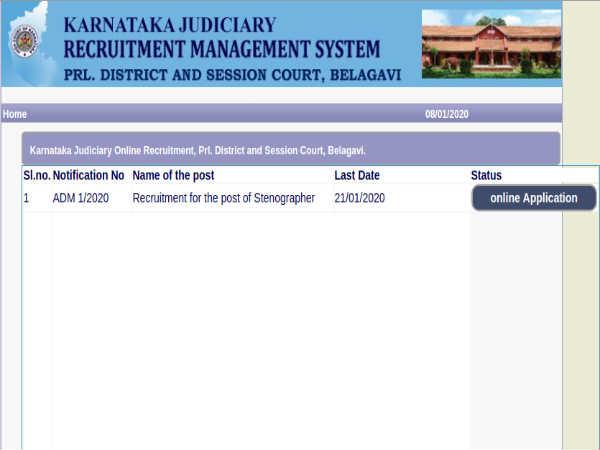Belagavi District Court: 55 Vacancies