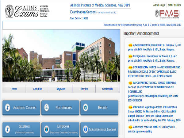 AIIMS Delhi Recruitment 2020 For 430 Group A, B And C Posts, Apply Online Before March 12