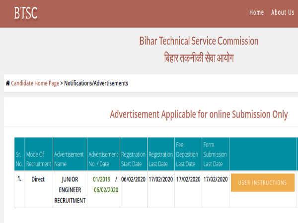 BTSC JE Recruitment: 6,379 Jr. Engineers