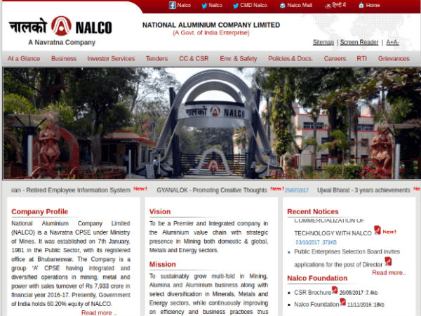 NALCO Jobs For Management Trainee