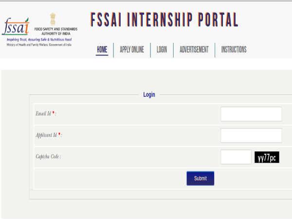 FSSAI Recruitment: Internship Scheme