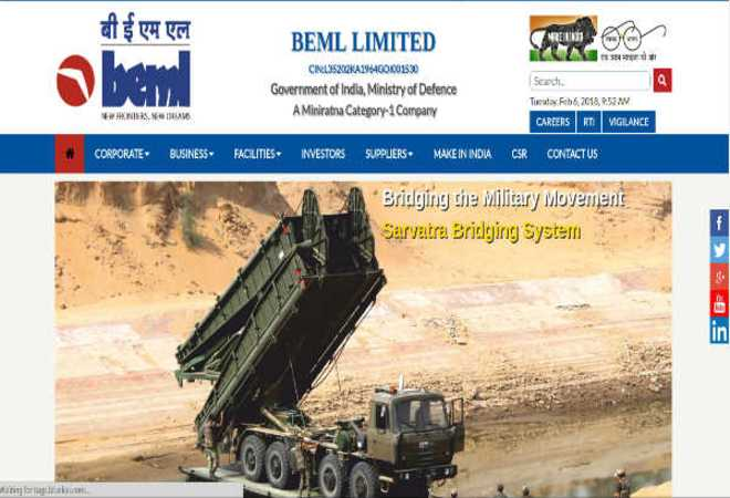 BEML Recruitment 2020: Managerial Posts