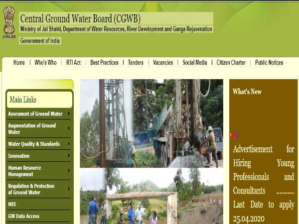 CGWB Recruitment 2020 For 62 Young Professionals And Consultant Posts, Apply Offline Before April 25