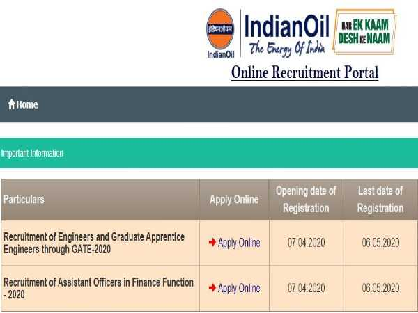 IOCL Recruitment 2020: Assistant Officer