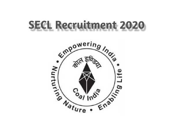 SECL Recruitment 2020: Nurse, Pharmacist