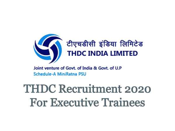 THDC India Recruitment 2020: ET Posts