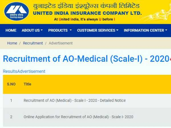 UIIC Recruitment 2020 For Administrative Officer (Medical) Posts, Apply Online Before June 10