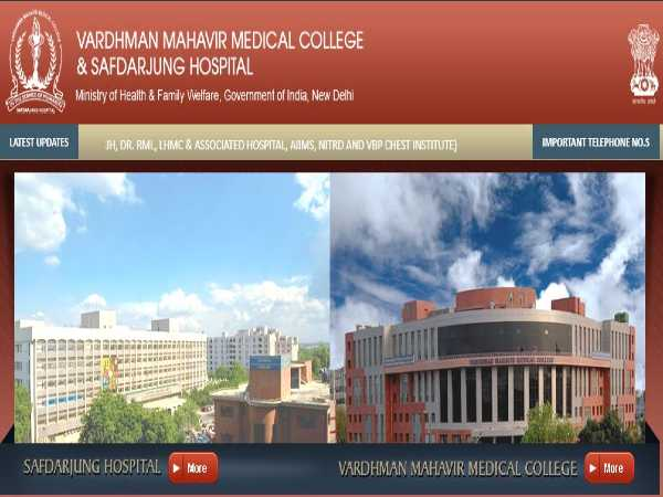 VMMC SJH Recruitment 2020 For 178 Senior Residents Post Through A 'Walk-In' Selection