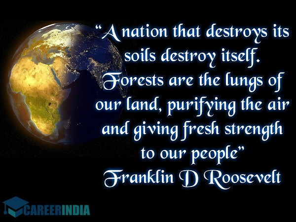 Environment Day Quote - Franklin D Roosevelt