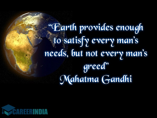 Environment Day Quote - Gandhi
