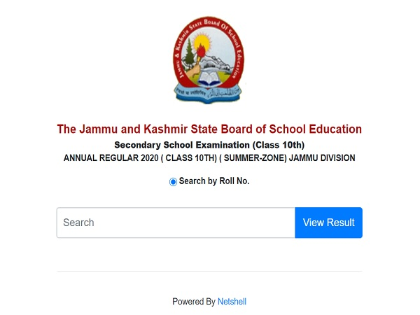 JKBOSE 10th Result 2020 Declared