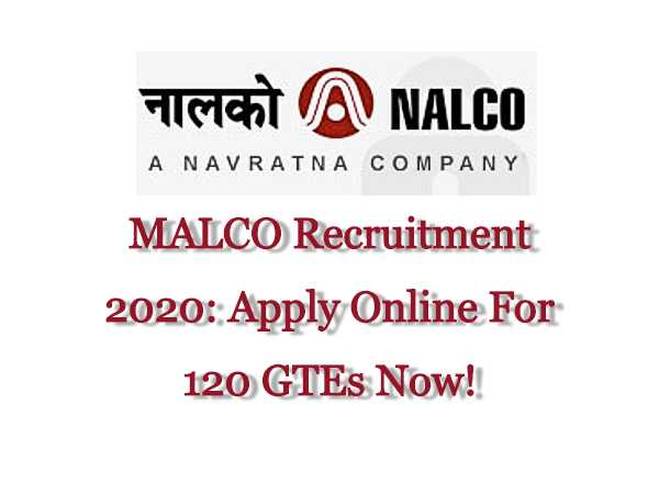 NALCO Recruitment 2020:Engineer Trainees