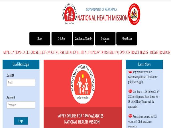 NHM Karnataka Recruitment 2020: MLHPs