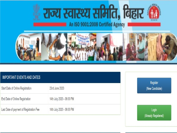 State Health Society Bihar Recruitment 2020 For 1,050 Community Health Officer, Apply Before July 14