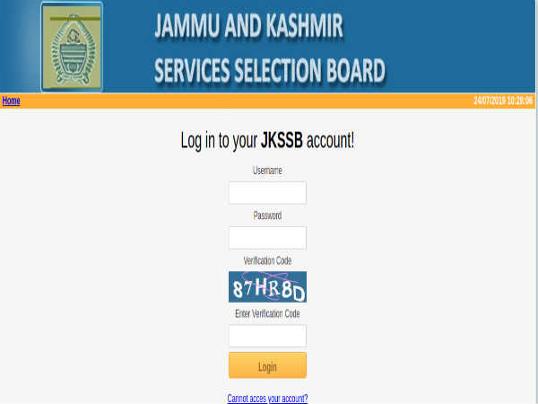 JKSSB Recruitment 2020 Notification