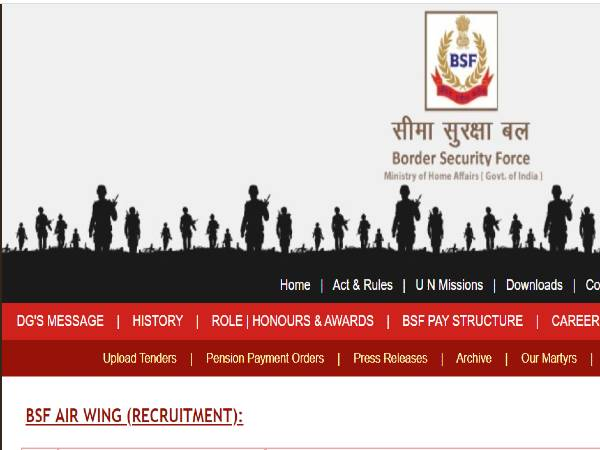 BSF Notification 2020:53 'Group A' Posts