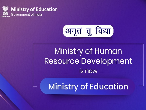 HRD Ministry Becomes Ministry of Education