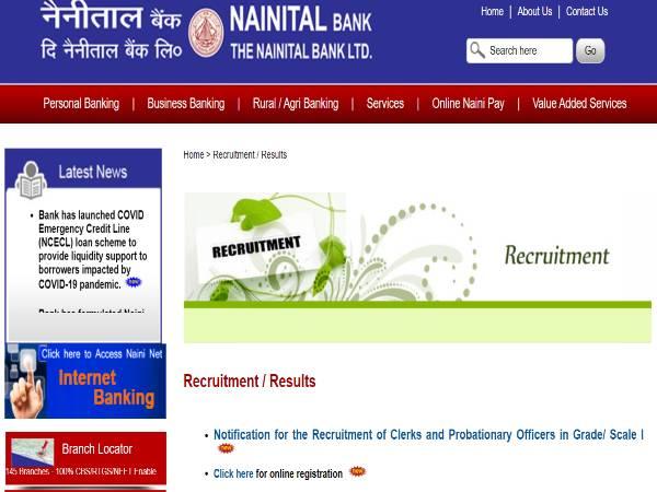 Nainital Bank PO Recruitment 2020: PO