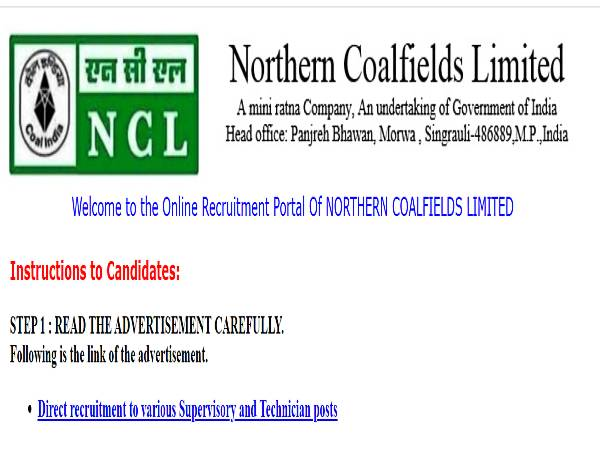 NCL Recruitment 2020 For 512 Supervisory And Technician Posts, Apply Online Before August 25