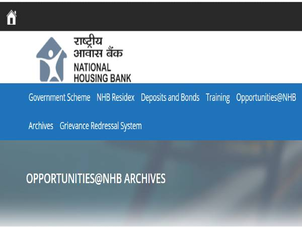 NHB Recruitment 2020: Assistant Managers