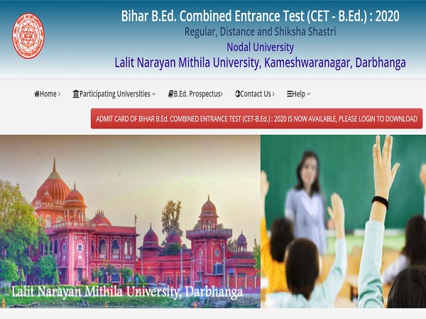 Bihar BEd Admit Card 2020: How To Download Bihar BEd CET 2020 Hall Ticket