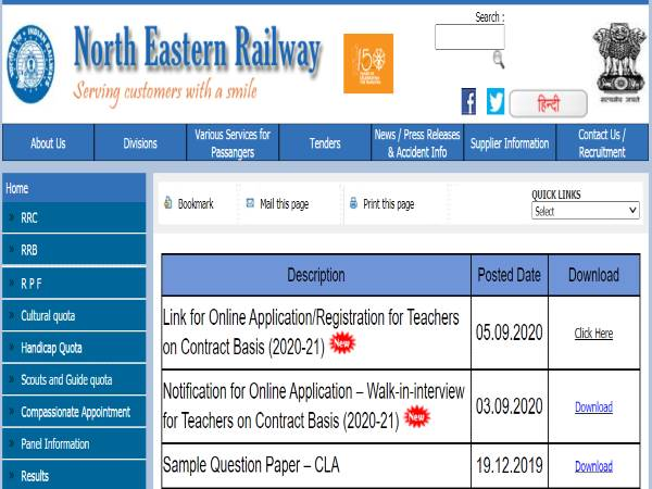RRC North Eastern Railway Recruitment