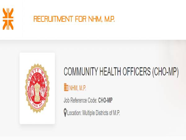 NHM MP Recruitment 2020: 3,800 CHO Posts