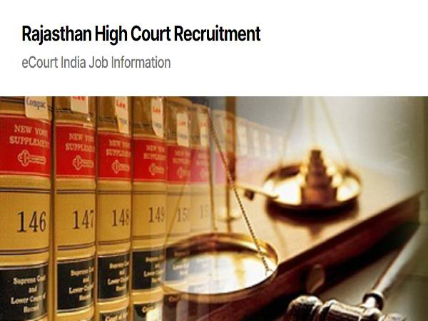 Rajasthan High Court Recruitment 2020 For 1,760 JA, Jr. JA And Clerk Posts, Apply Online From Oct 1
