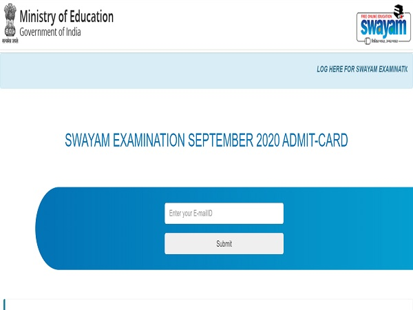 SWAYAM Admit Card 2020 Released For September 2020