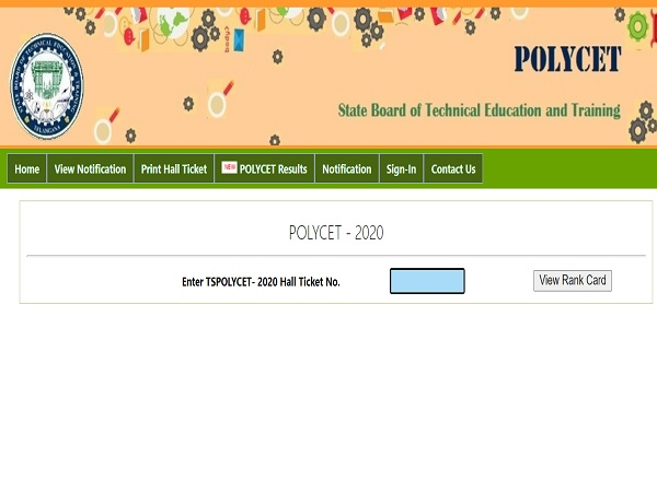 TS POLYCET Result 2020 Released