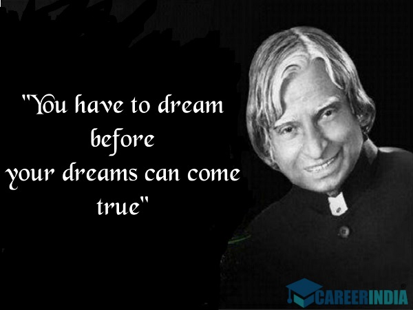 Abdul Kalam Quotes On Dreams