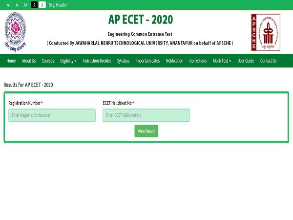 AP ECET Results 2020 Declared