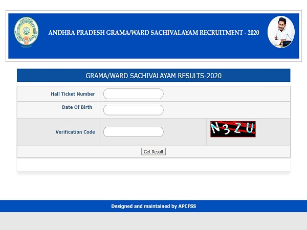 AP Grama Sachivalayam Result 2020 Declared