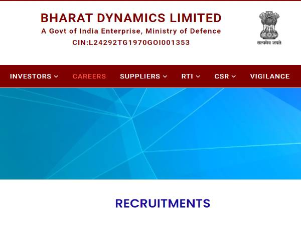 BDL Recruitment 2020 For 119 Graduate And Technician Apprentices, Apply Online Before November 18