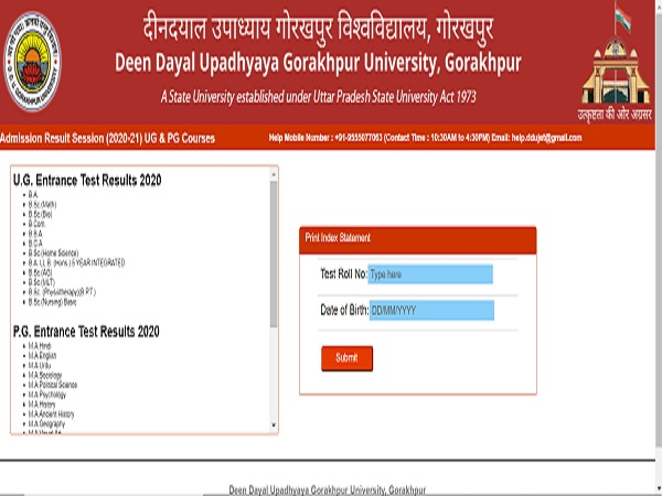 DDU Entrance Exam Result 2020 Declared For UG & PG Admission 2020-21
