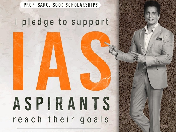 Sonu Sood Launches IAS Scholarship