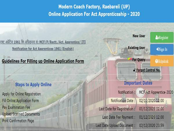 Modern Coach Factory Recruitment 2020: 110 TA