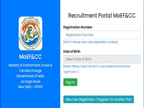 MOEF Recruitment 2020 For 34 Scientists Posts, Apply Online Before December 20