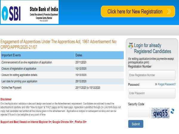 SBI Recruitment 2020 For Engagement Of 8,500 Apprentices, Apply Online Before December 10